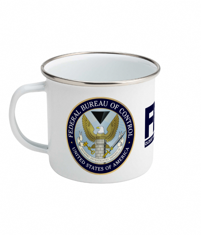 Federal Bureau Of Control USA Oldest House Enamel Mug 10oz for Gamers